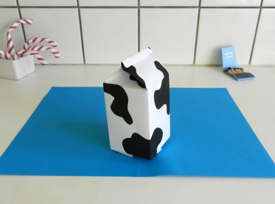 origami milk carton folded of one a4-paper