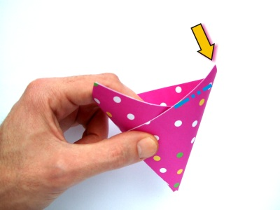 how to make an origami party hat