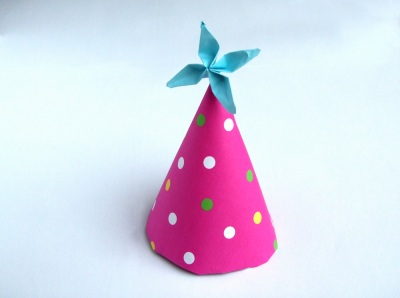 cute origami party hat