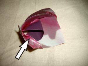 pink origami flower diagrams