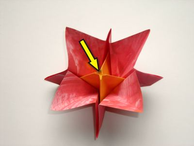 an origami flower