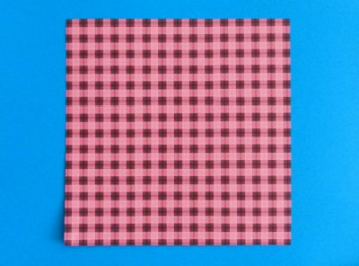 origami paper with plaid texture for folding a skirt