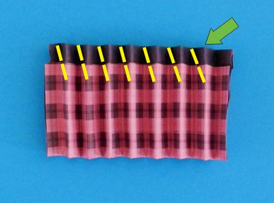 how to fold an origami plaid skirt