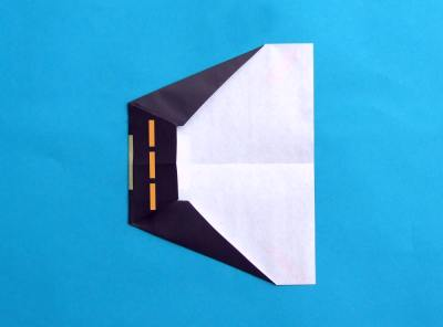 folding a paper plane, model minesweeper