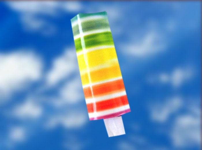 Papercraft Fruity Rainbow Popsicle
