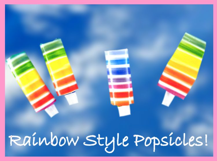 Origami Fruity Rainbow Popsicles