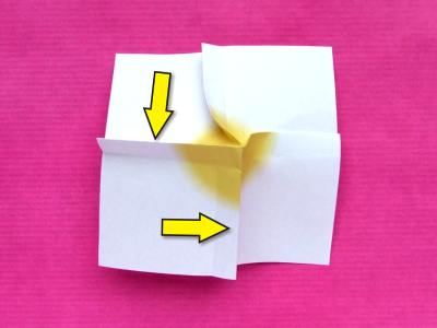 instructions for making an origami primrose