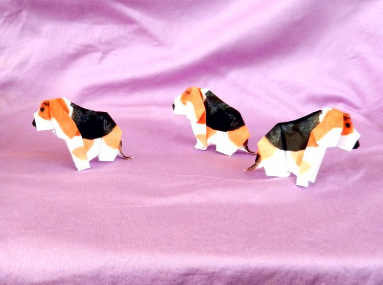 Origami Beagle puppies