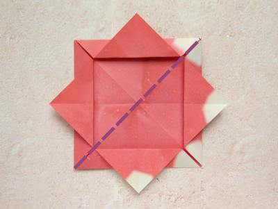 how to make a cute red origami flower