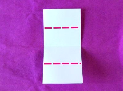 origami reserved place card folding instructions