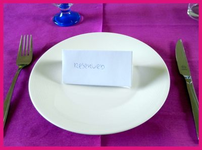 origami reserved place card