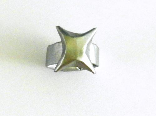 Origami ring with star