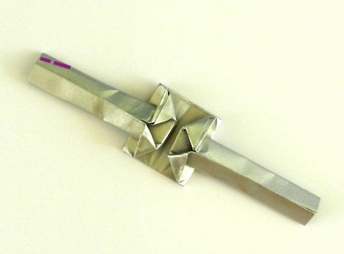 Origami ring with star diagrams