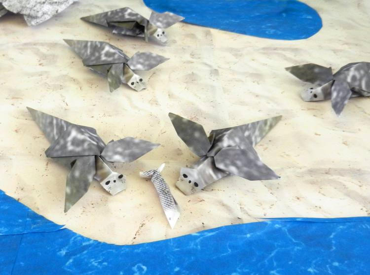 Origami Sea Dogs (Seals)