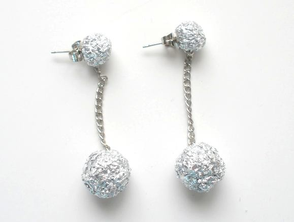 Tin foil earrings