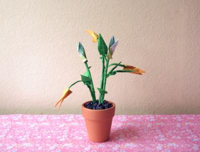 simple and stylish origami flower arrangement