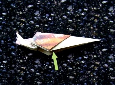 how to make an origami snail