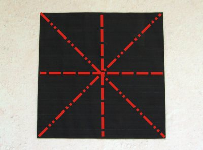 black origami paper for folding an advanced spider