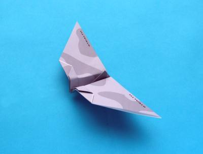 origami plane, model stealth