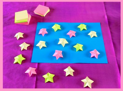 origami post-it memo sterretjes in kawaii stijl