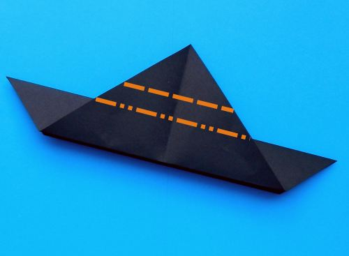 How to fold an origami submarine