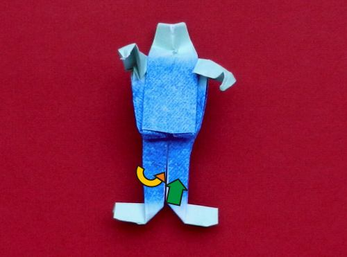 How to fold an origami Zombie
