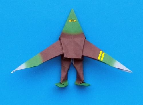 diagrams for an origami zombie with knives