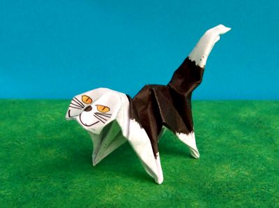 origami cat without ears