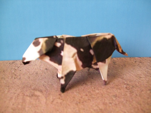 origami cow