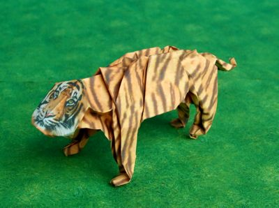 origami tiger without ears