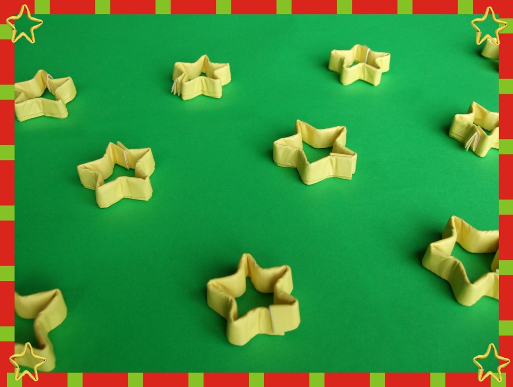 free printable origami card with lots of cute stars
