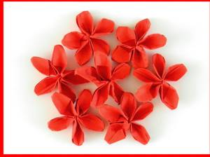 Joost langeveld origami page cute card with red origami flowers mightylinksfo
