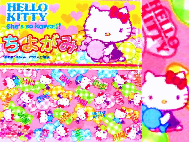 Hello Kitty Origami Card