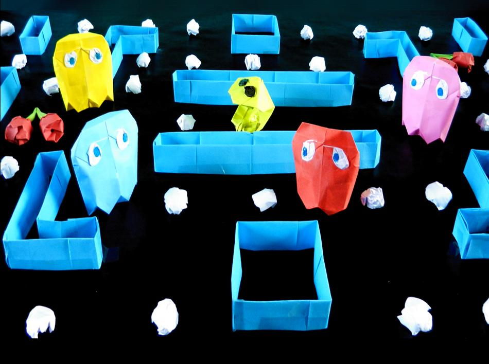 Origami Pacman Game