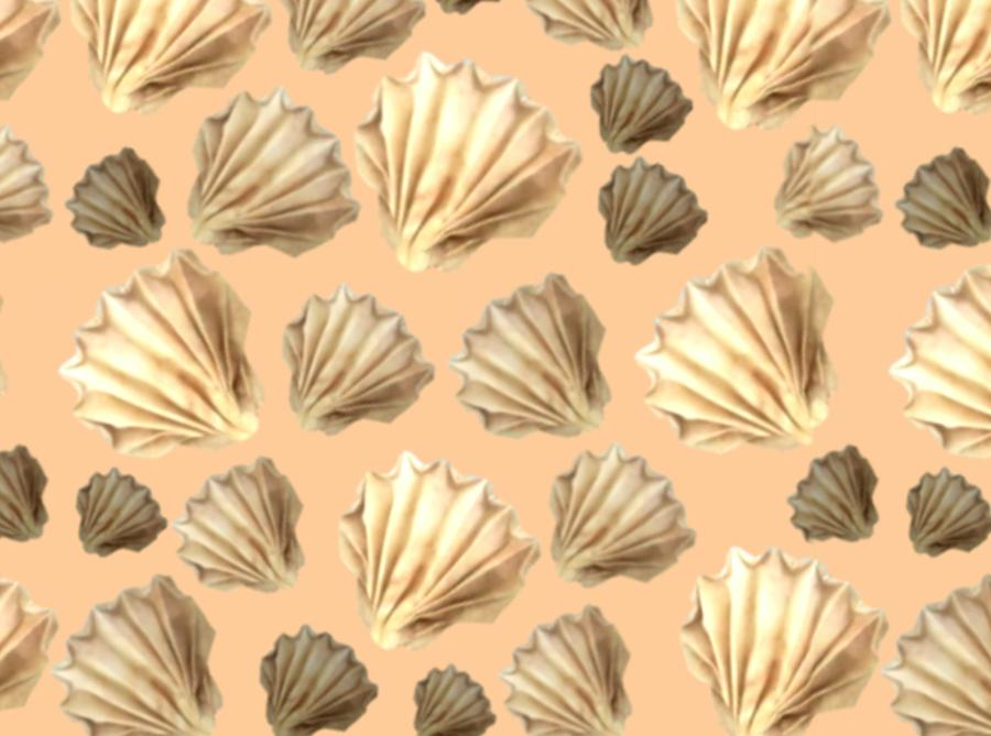 Origami seashells pattern