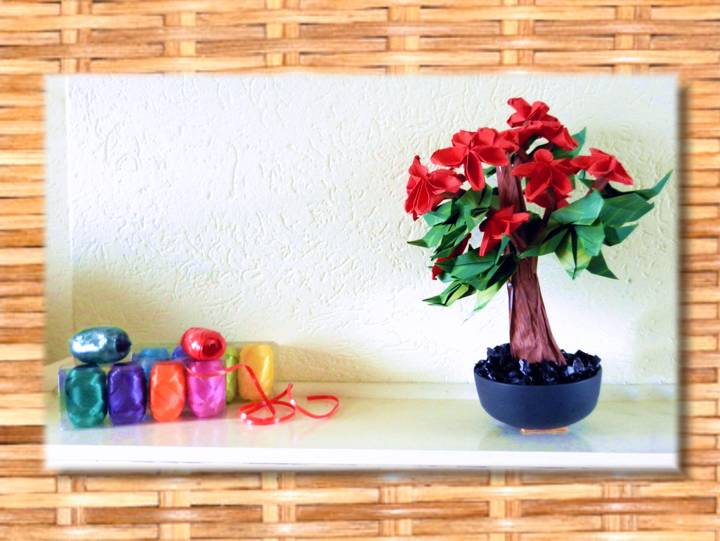 Bonsai Origami Flower Tree