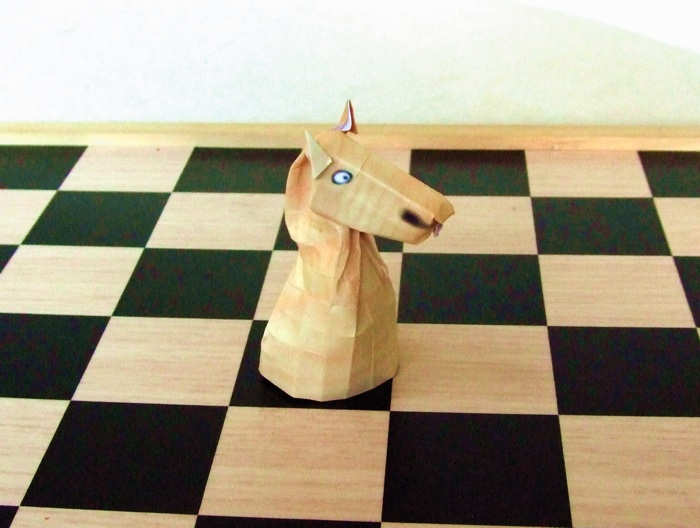 origami chess piece - knight