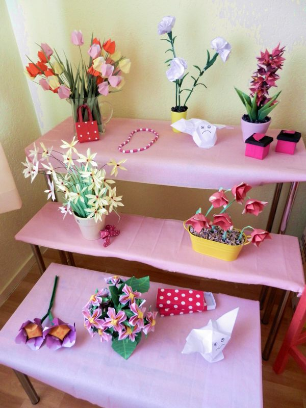 kawaii origami flower shop