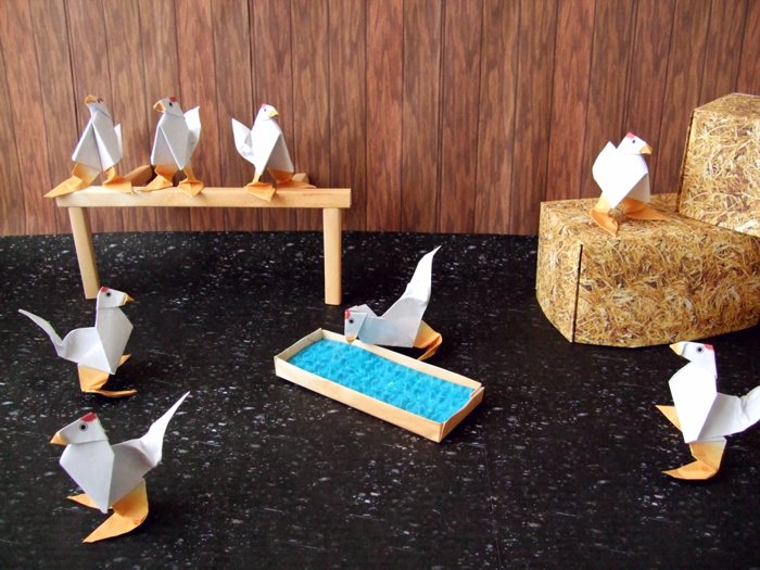 origami chickens