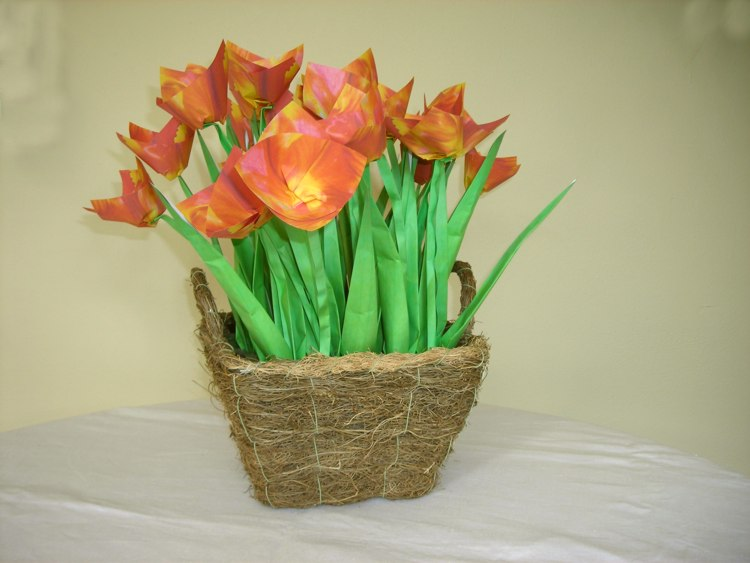origami tulips from Holland