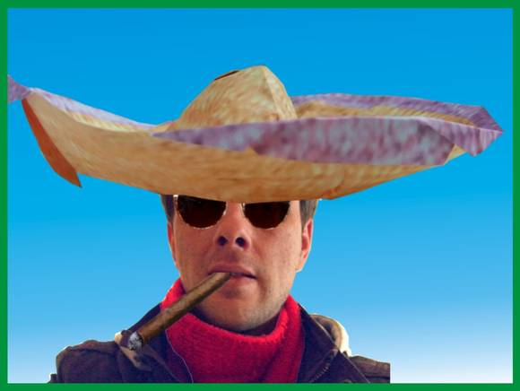 Joost Langeveld with an Origami Sombrero
