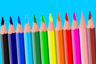 coloring pencils with real bright colours