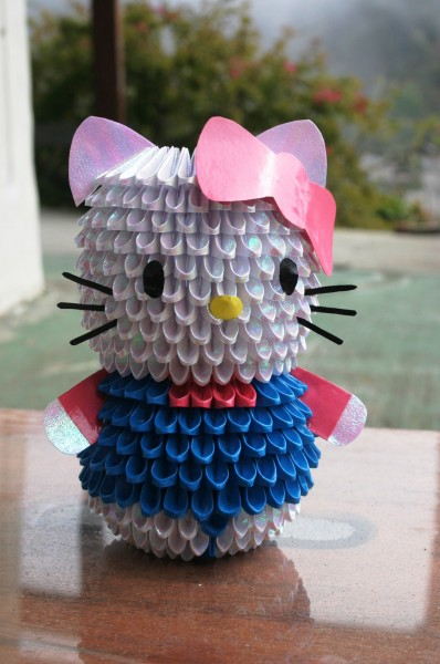 3D Origami Hello Kitty