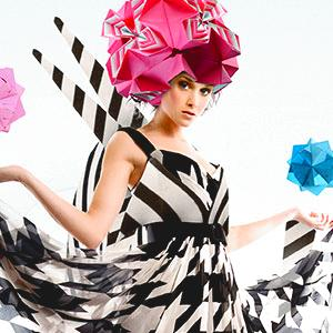 Artistic and modern Origami hat