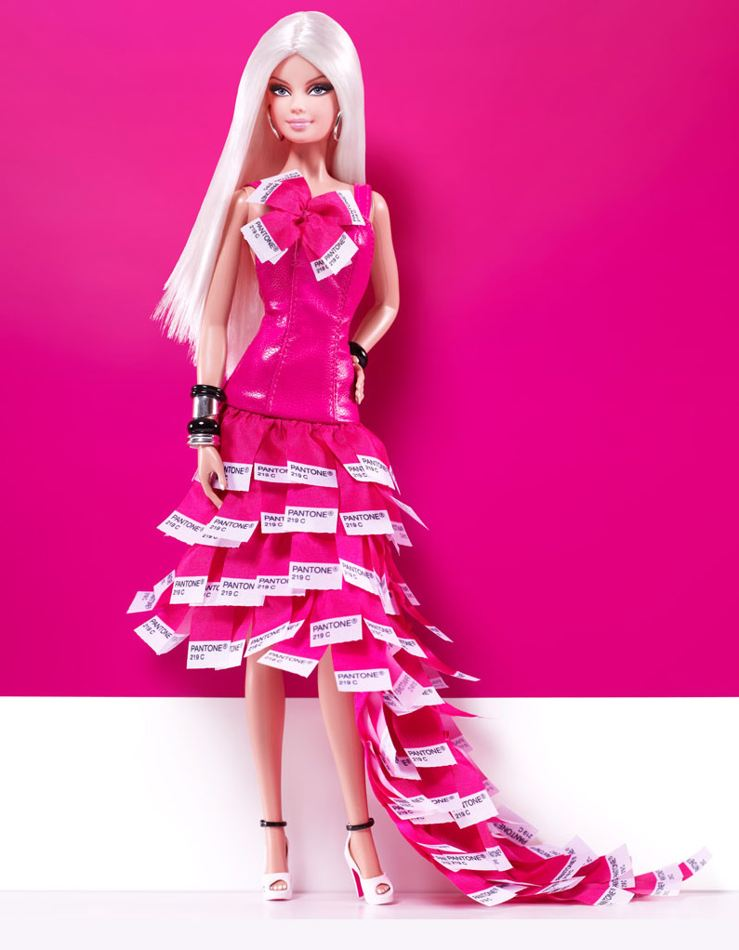 Barbie in pink dress