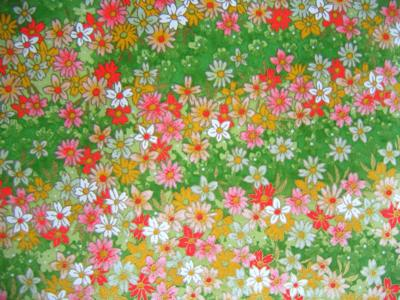 origami paper with typical japanese flower print