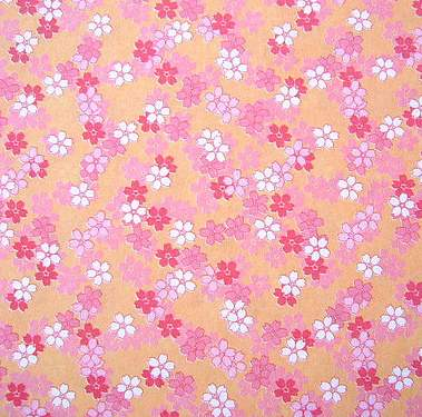 pink kawaii origami paper with tiny flower print