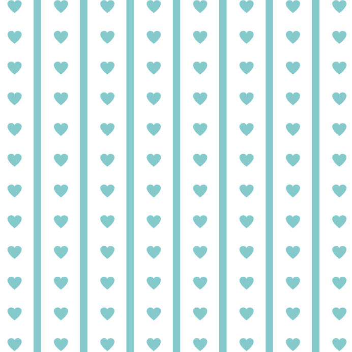 valentine origami paper with blue heart print