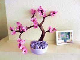 Bonsai Origami Dogwood tree
