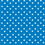 blue with white polkadots origami paper